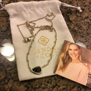 Kendra Scott Black Granite Arleen Necklace